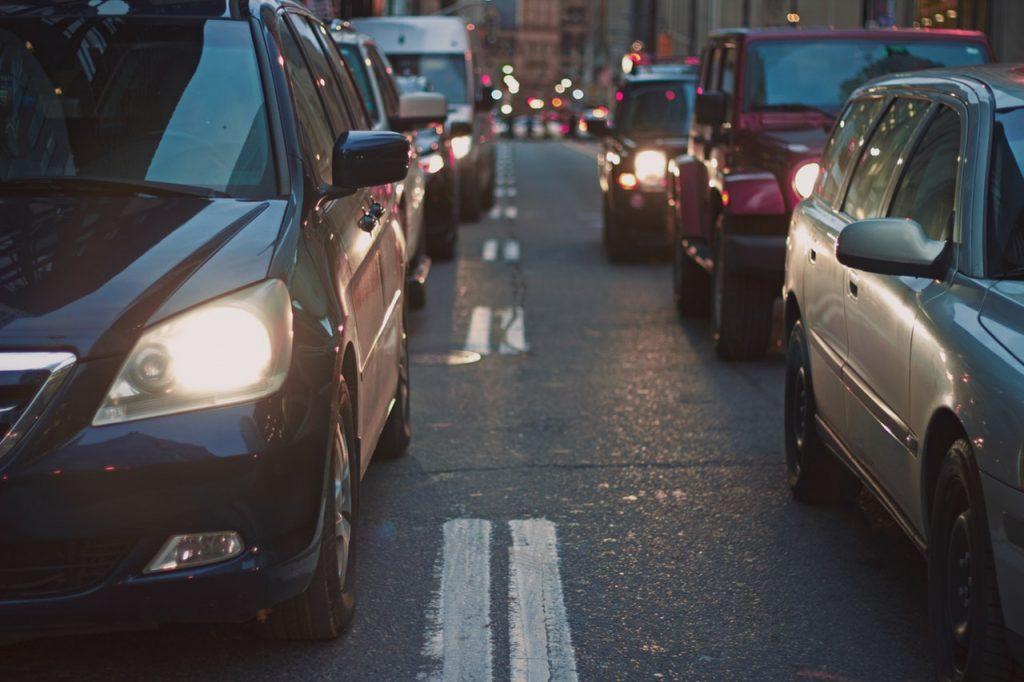 cars on a busy street